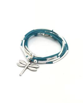 DRAGONFLY turquoise ♥  Bracelet en cuir libellule