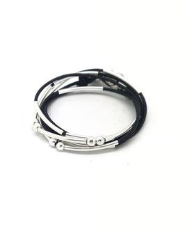 YOU noir ♥  Bracelet en cuir