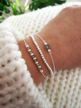 HELOISE ♥ TRIO de bracelets en argent