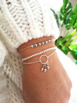 TRIO de bracelets en argent Paris, Perla mini et Lilo