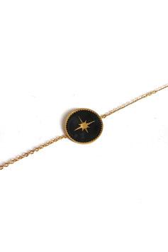 [ EPUISE ] HAO noir - Bracelet doré