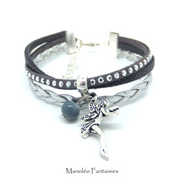 FEE gris- Bracelet mini manchette -50%