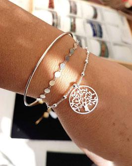 [ ÉPUISÉ ] TRIO de bracelets en argent Dorian, Jules et Famille