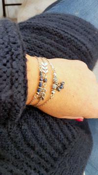 JONAS bleu - Composition de bracelets fins
