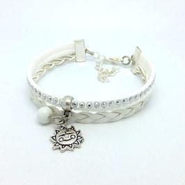 Bracelet mini manchette SOLEIL blanc