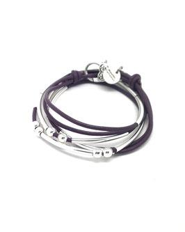 YOU violet ♥  Bracelet en cuir