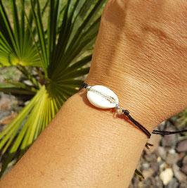 ARGUIN- Bracelet coquillage cauris argenté