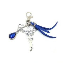 FEE bleu - Bijou de sac ou porte-clés