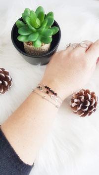 EDEN noir - Composition de bracelets fins