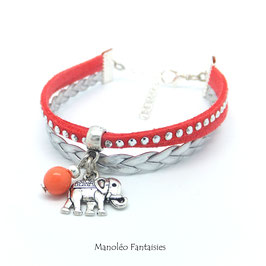 TANTOR - bracelet mini manchette corail