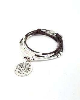 FAMILLE joli marron ♥ Bracelet en cuir