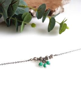 MIO - Bracelet fin vert turquoise