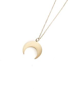 MAT - collier doré demi lune