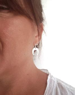 LOUISE - Boucles d'oreilles ARGENT 925 demi lune