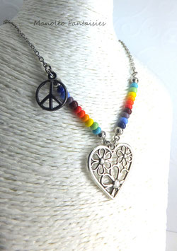 "- 30 % Sautoir multicolore et argenté ""flowers in love""..."