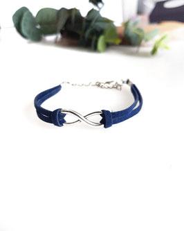 Bracelet INFINI bleu marine
