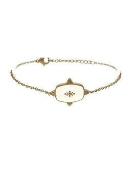 LYZ blanc - Bracelet doré