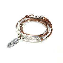 PLUME bronze ♥ bracelet en cuir