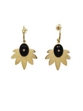 CANDICE - Boucles d'oreilles dorées motifs ethniques