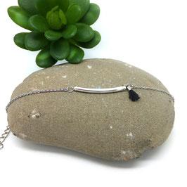NOLAN - Bracelet fin bohème noir