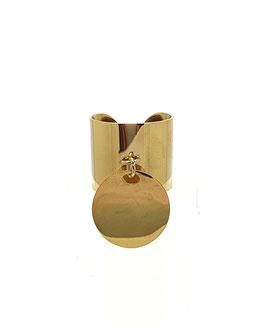 SIA + - Bague dorée grande taille