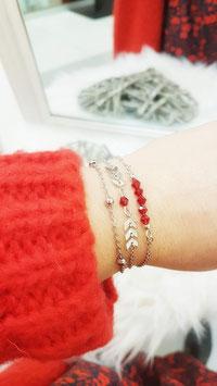 EDEN rouge - Composition de bracelets fins