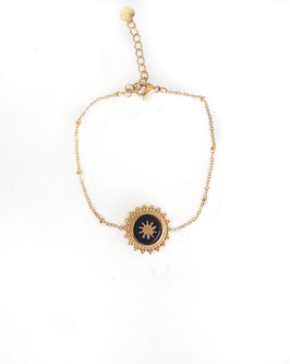 KYO noir - Bracelet doré