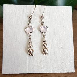 KELSO rose - boucles d'oreilles perles -20%