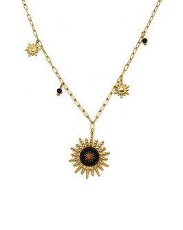 ESTEBAN - collier doré et ses soleils