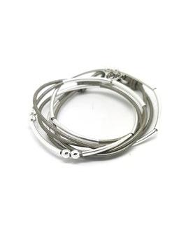 YOU gris ♥ Bracelet en cuir
