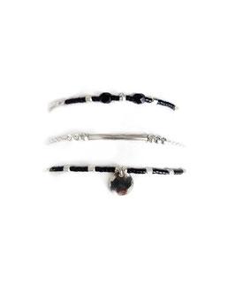 CANDICE ♥ trio de bracelets en argent