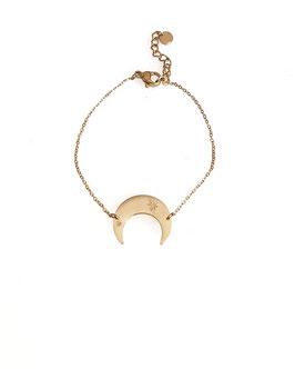 MAT - bracelet doré demi lune