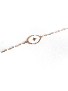 [ÉPUISÉ] UGO blanc - bracelet doré rose
