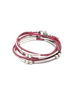 YOU framboise ♥  Bracelet en cuir