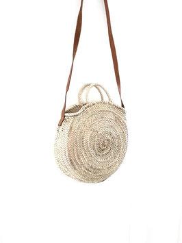 SOFIANE mini- sac rond anse en cuir
