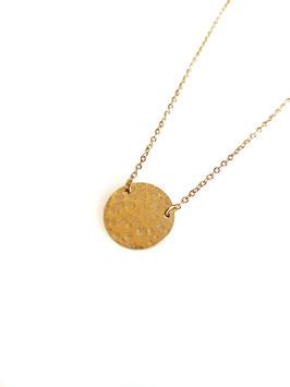 [EPUISE] EVA - collier doré médaille martelée