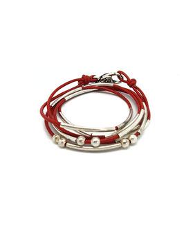 YOU rouge ♥  Bracelet en cuir