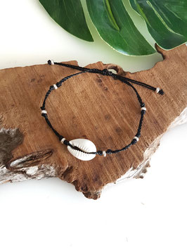 CAURI ♥ Bracelet coquillage et perles argent