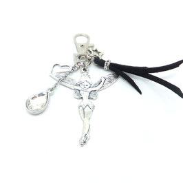 FEE noir - bijou de sac ou porte-clés