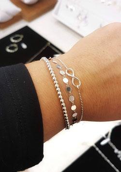 [ ÉPUISÉ ] TRIO de bracelets en argent Infini, Jules, Perla mini