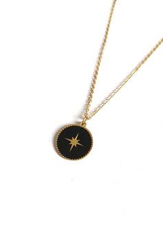 HAO noir - collier doré