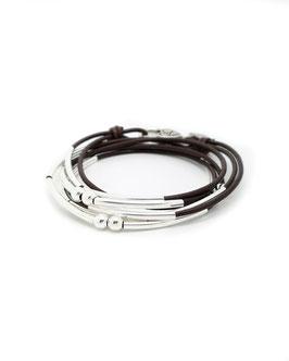YOU marron ♥ Bracelet en cuir