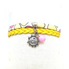 LUZ - Bracelet SOLEIL mini manchette jaune