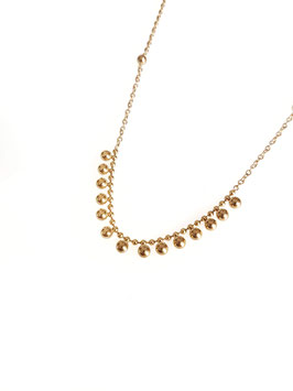 REMI - collier doré perles