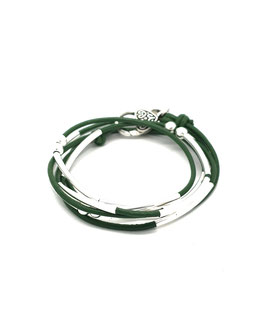 YOU vert kaki ♥ Bracelet en cuir