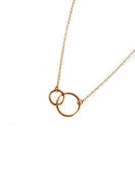 ELIOT - Collier doré anneaux entrelacés