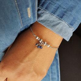 MIO - Bracelet fin bleu mordoré