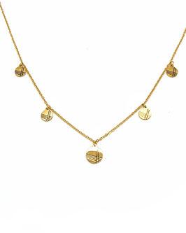 FELIX - collier doré médailles