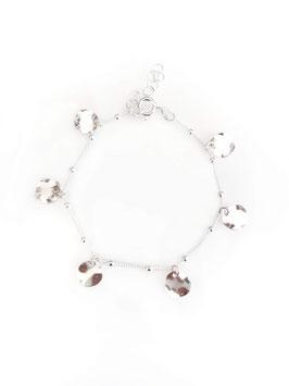 ROMY mini - Bracelet argent médailles ondulées