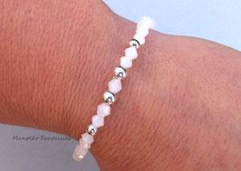 Bracelet en cristal de Swarovski de couleur blanc.